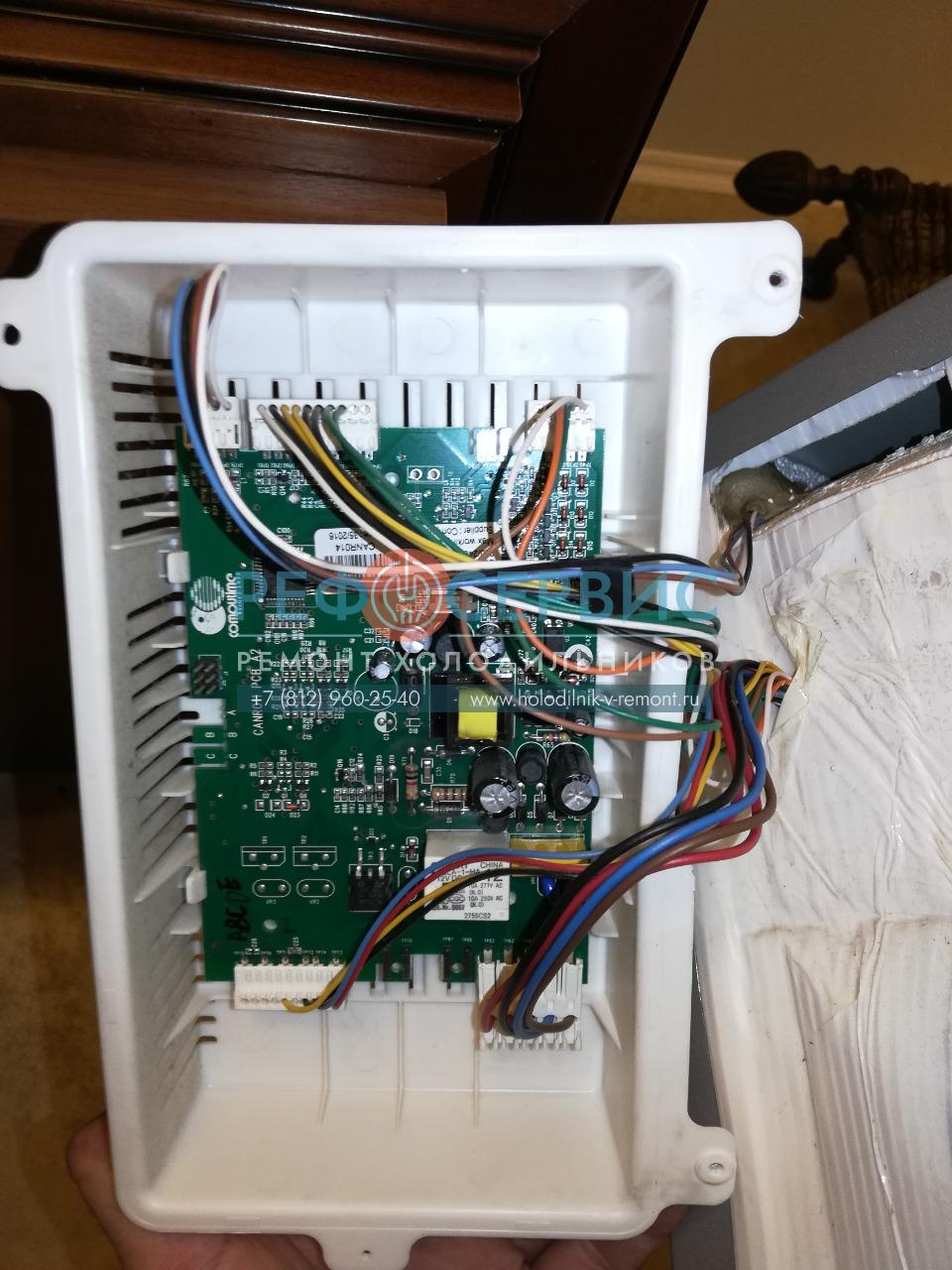 Ремонт электронного модуля и светодиодной платы в холодильнике CANDY CKBN 6202 DII