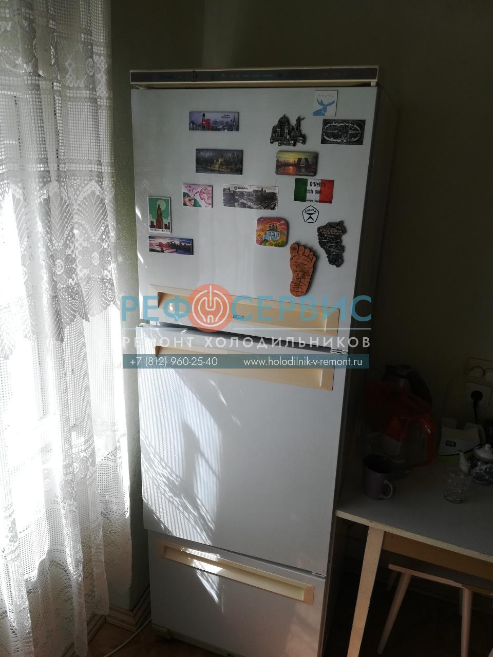 Замена патрона лампы в холодильнике STINOL-104