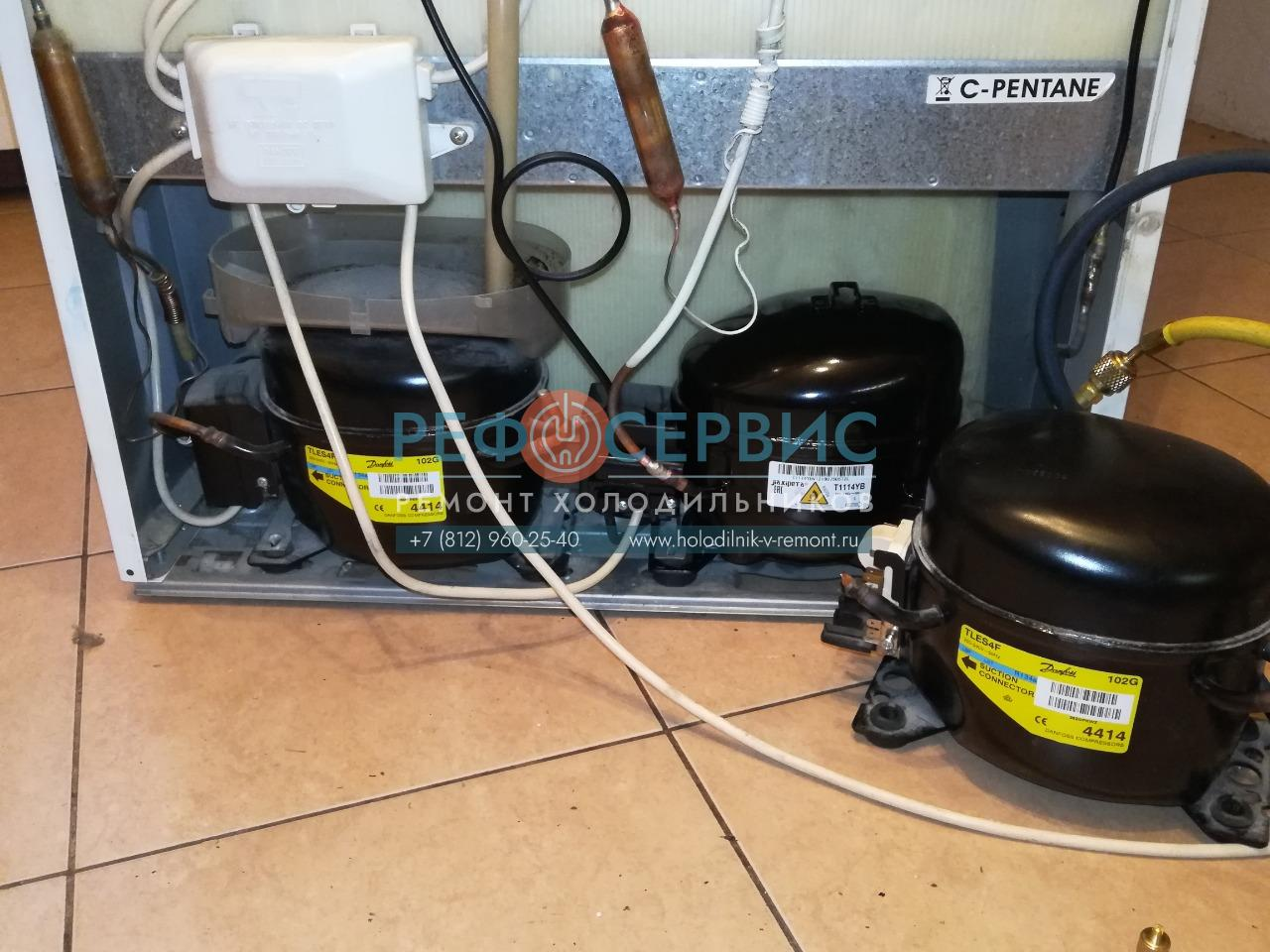 Замена компрессора в холодильнике ARISTON MBA2185.0189