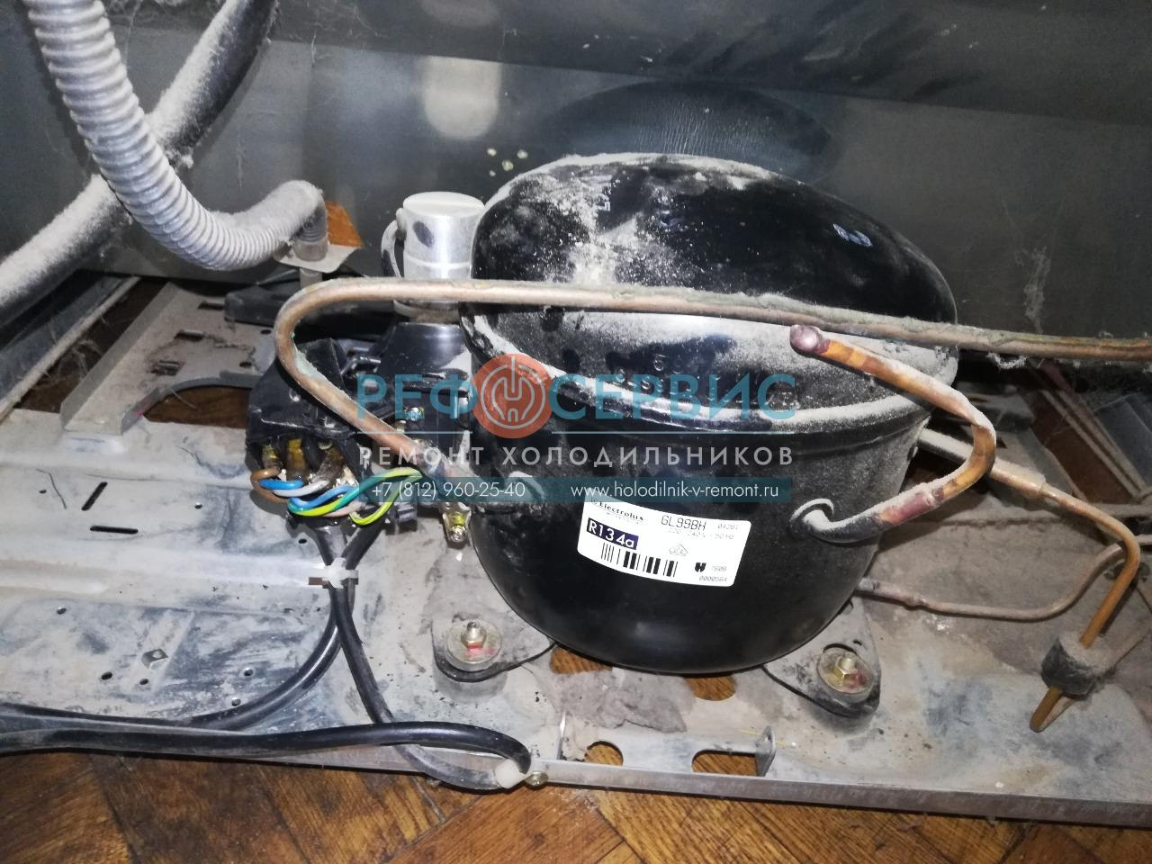 Замена пускового реле в холодильнике SHARP SJ-55G-GV