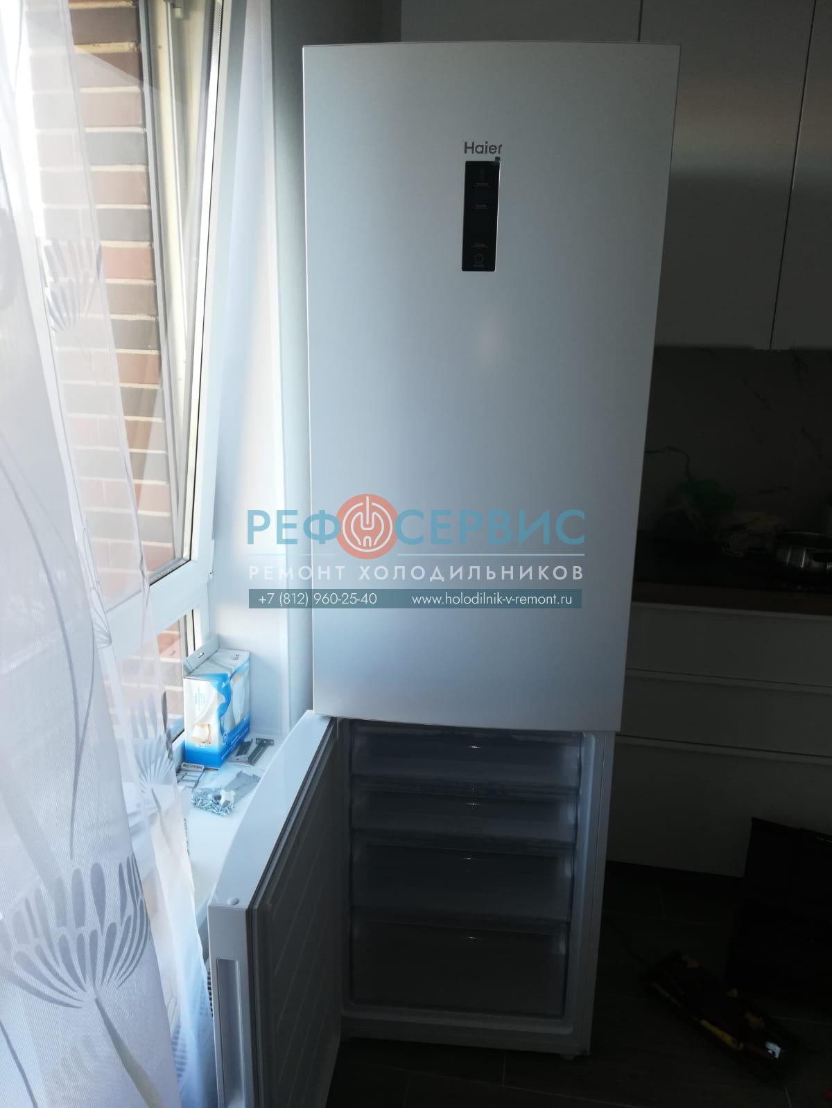 Перенавес дверей в холодильнике Haier C2F637CWMV