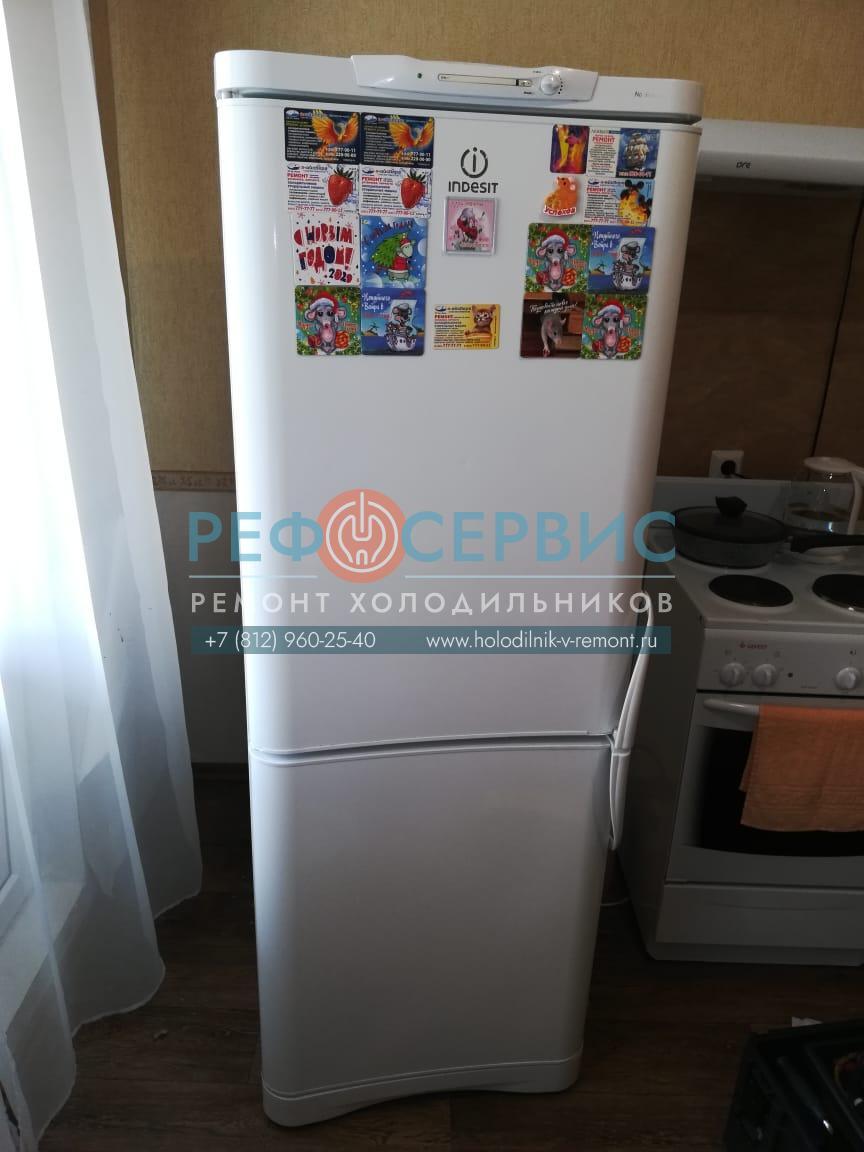 Заправка хладагентом и замена крыльчатки в холодильнике INDESIT C132NFG.016